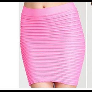 1c8a1474ee38 Women Pink Bebe Bandage Skirt on Poshmark